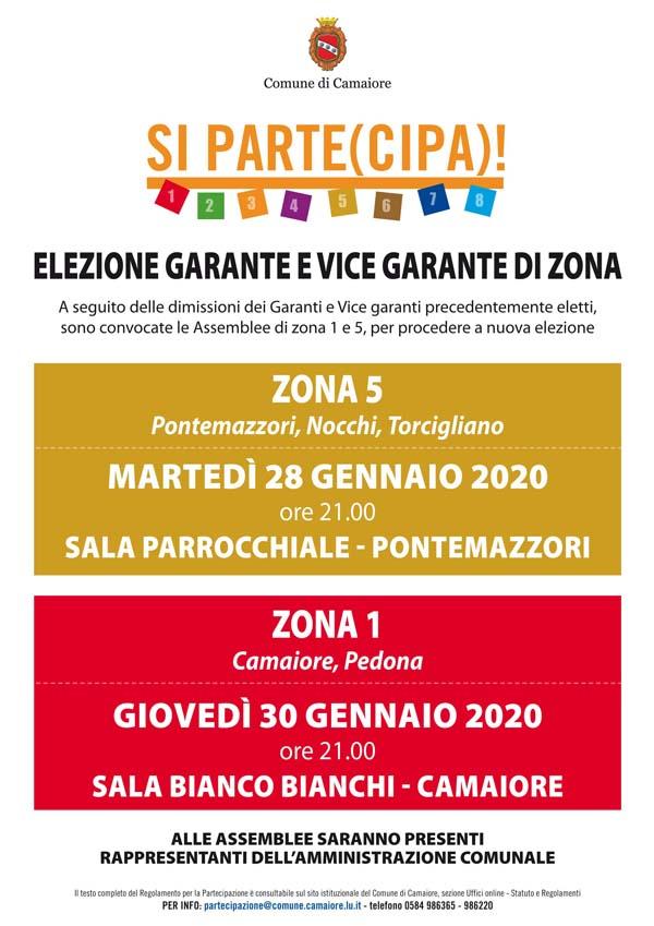 Elezione garanti e vicegaranti di zona 1 e 5