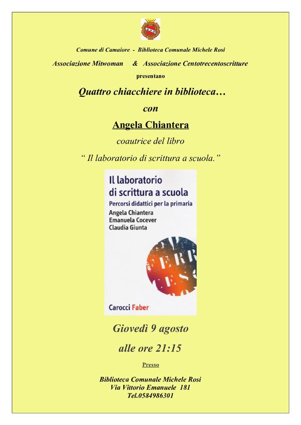 Quattro chiacchiere con...Angela Chiantera