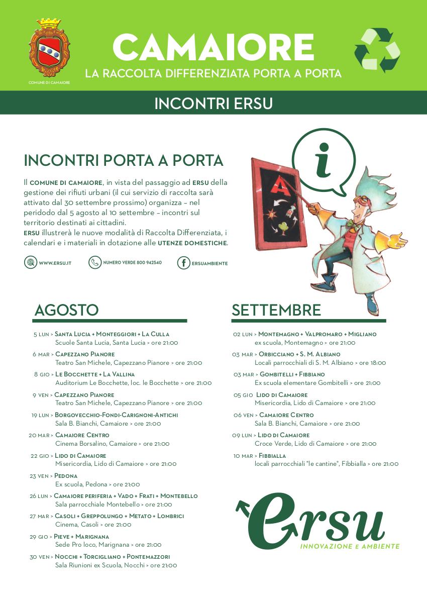 Da lunedì 2 settembre aperto nuovo Infopoint ERSU presso la Misericordia di Camaiore