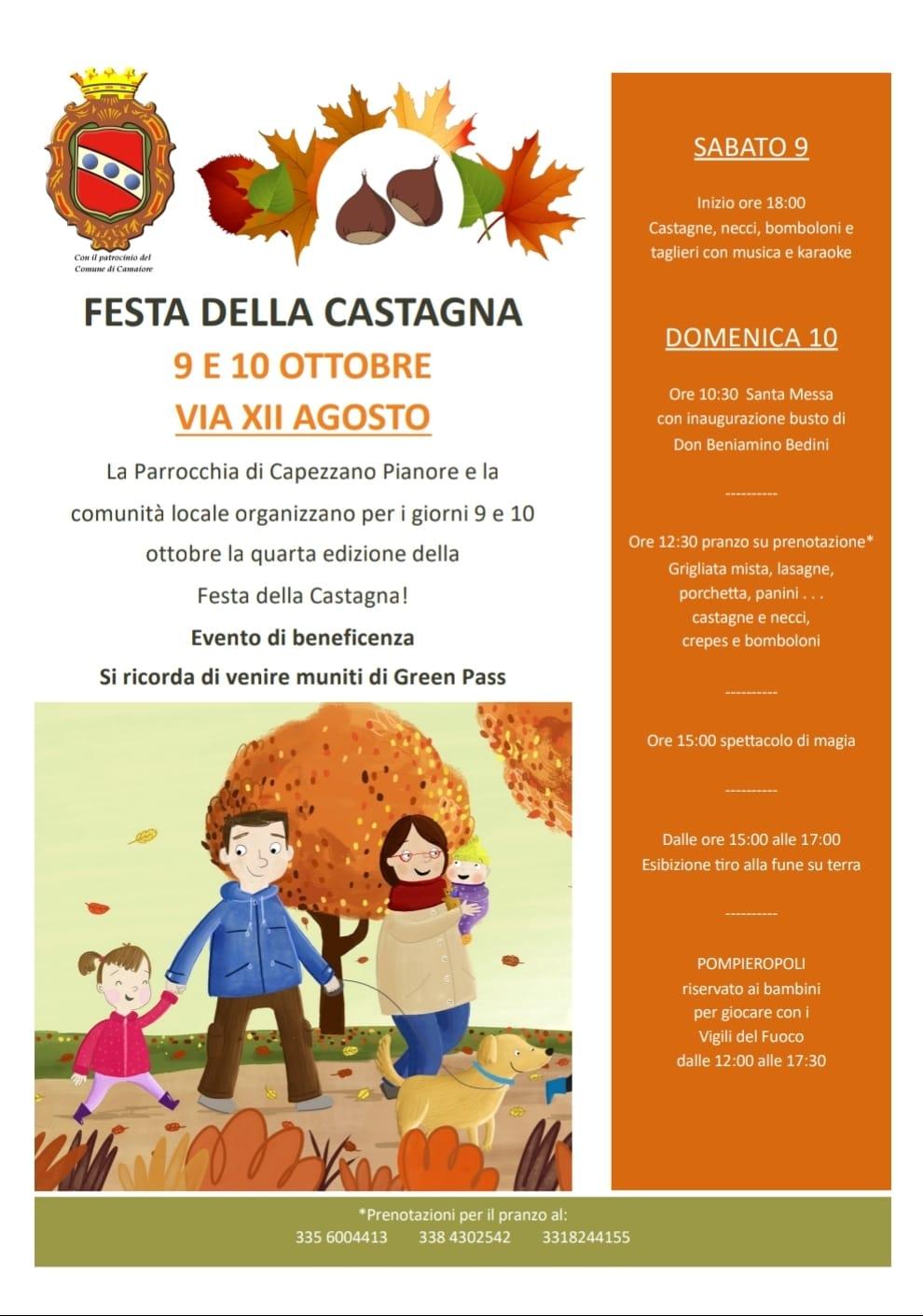 Festa della Castagna a Capezzano Pianore il 9 e 10 ottobre