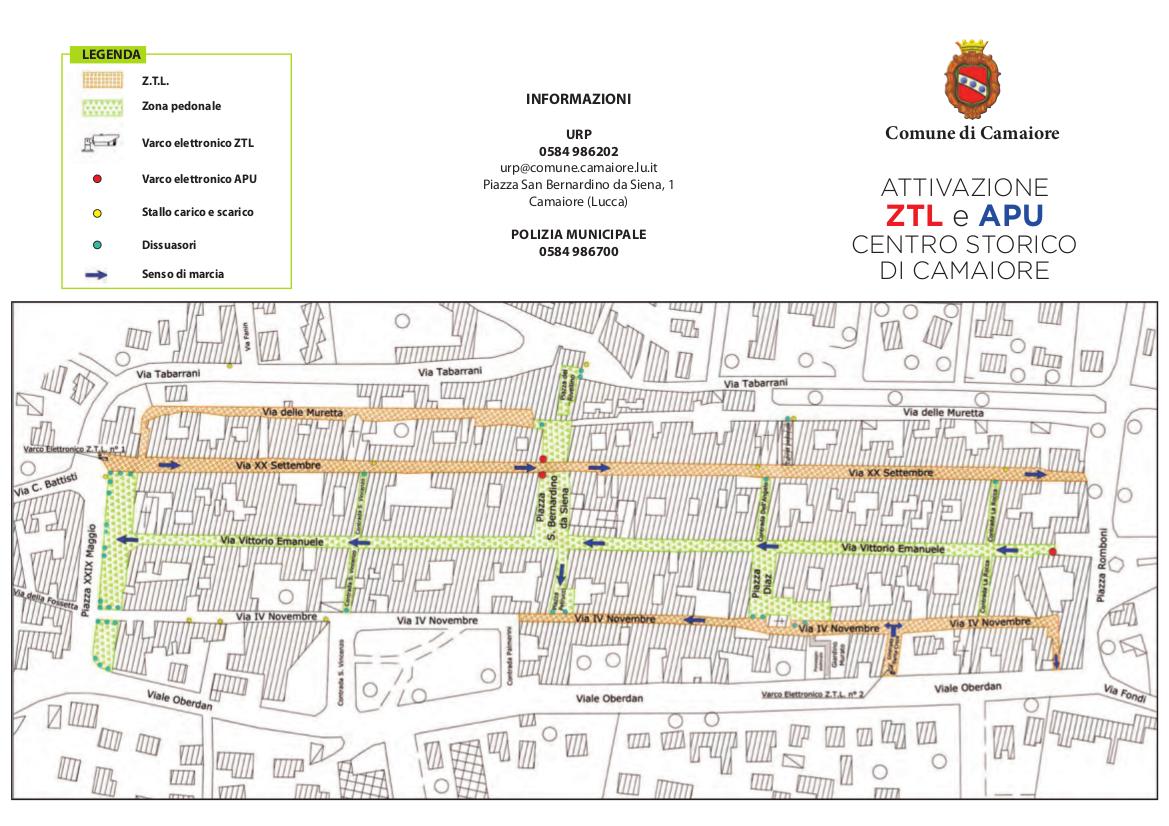 Zona a Traffico Limitato e Area Pedonale Urbana - Centro storico di Camaiore