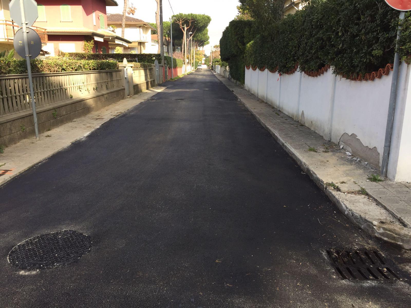 asfaltatura via delle Ginestre