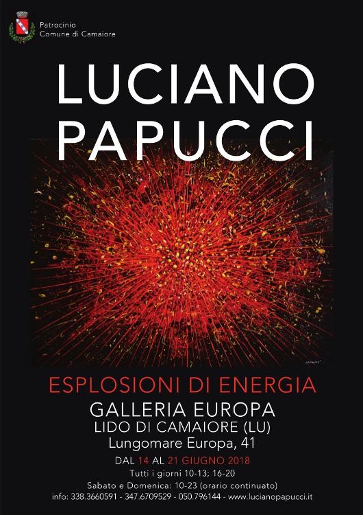 """Luciano Papucci """"Esplosioni di energia"""" dal 14 al 21 giugno alla Galleria Europa"""