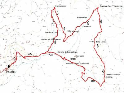 ANELLO 6 - CASOLI - FOCE DEL PALLONE - CASOLI