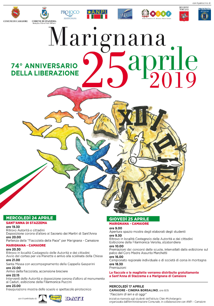 74° anniversario della Liberazione - Il programma delle celebrazioni