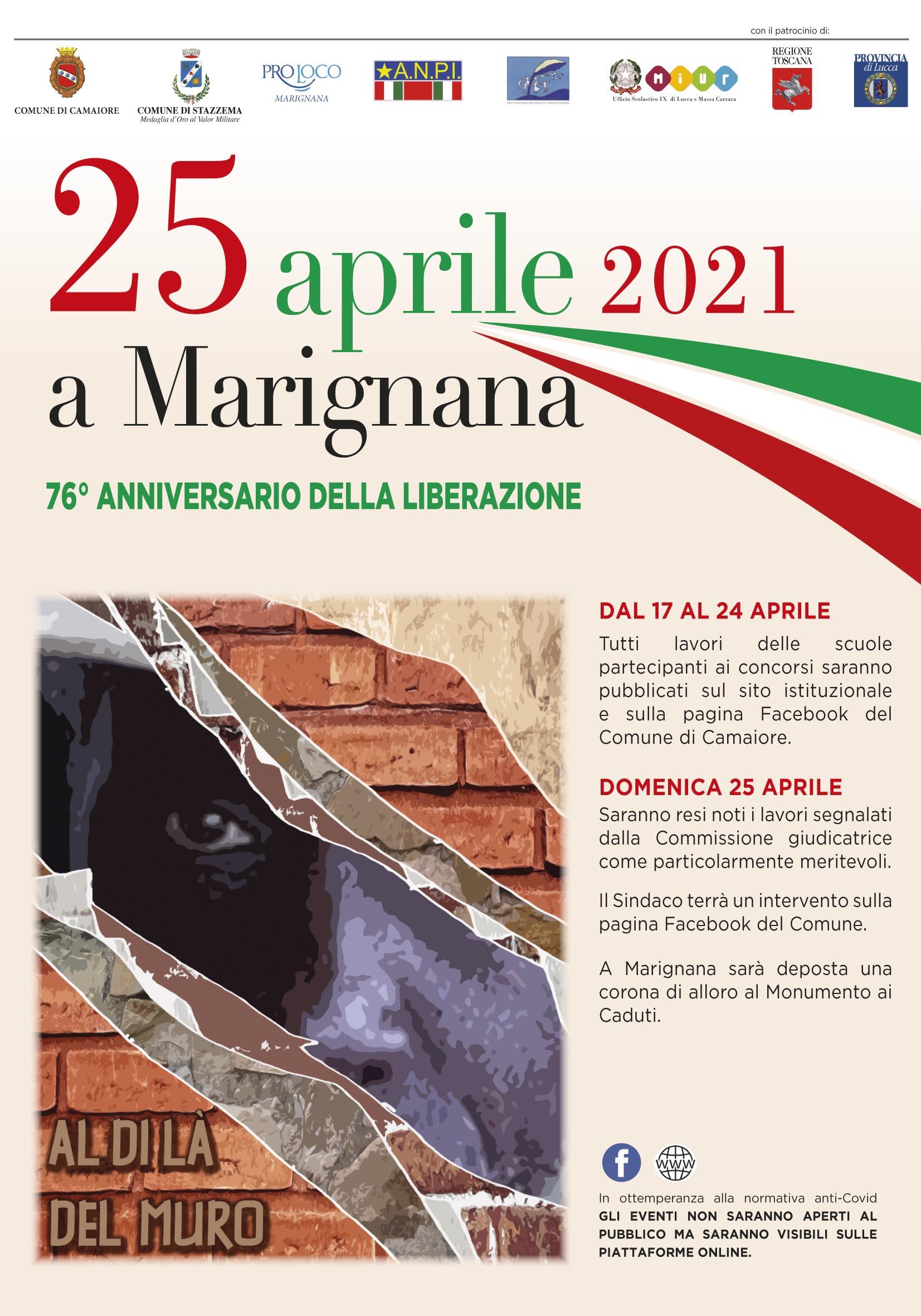 25 Aprile 2021 a Marignana 76° anniversario della Liberazione - le opere in concorso