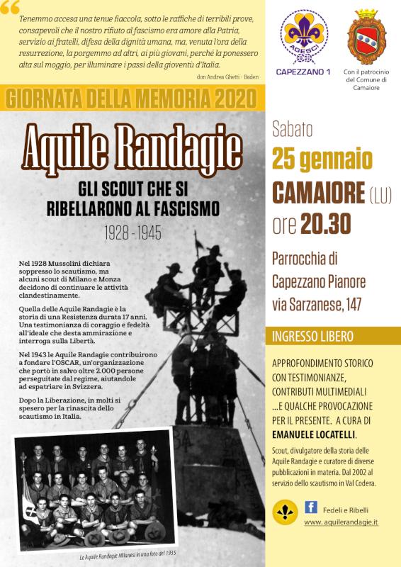 Giorno della Memoria 2020: Il gruppo Scout Capezzano 1 e il Comune di Camaiore ricordano le Aquile Randagie