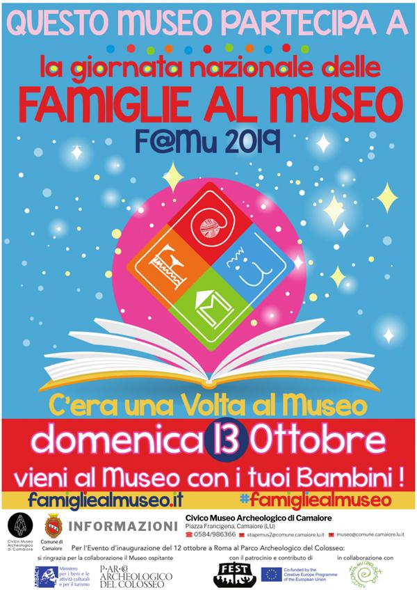 """C'era una volta al museo... domenica 13 ottobre la """"Giornata nazionale delle Famiglie al Museo"""""""