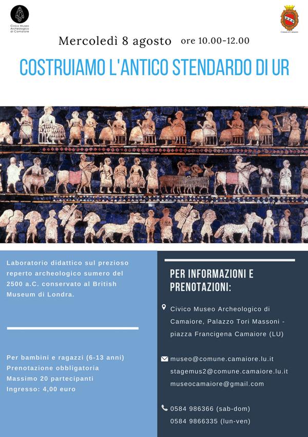 """""""Costruiamo l'antico Stendardo di Ur"""": l'8 agosto un laboratorio per bambini al Civico Museo Archeologico"""