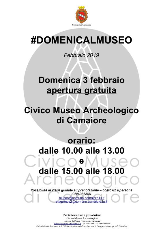 #Domenicalmuseo - domenica 3 febbraio apertura gratuita del Civico Museo Archeologico