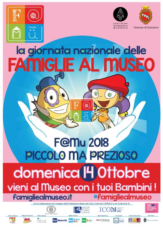 #FAMIGLIEALMUSEO 2018: Domenica 14 ottobre al CMA - Civico Museo Archeologico di Camaiore