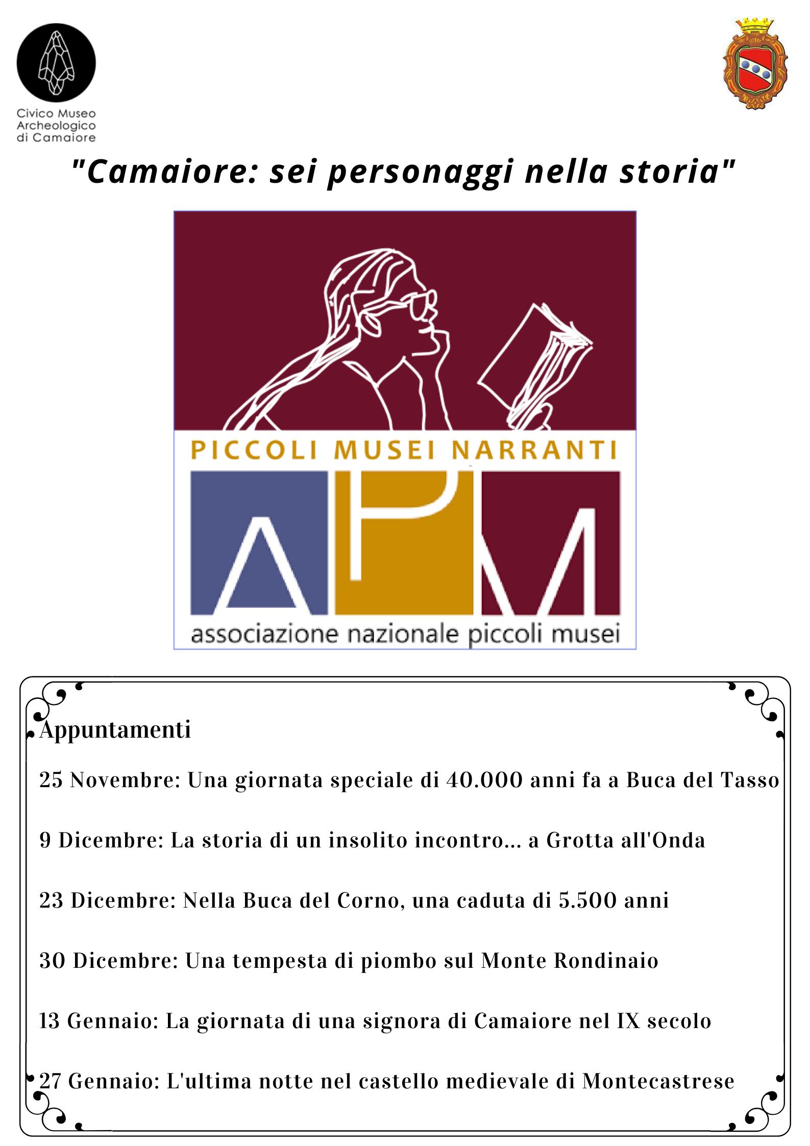Il Civico Museo Archeologico di Camaiore aderisce all'iniziativa