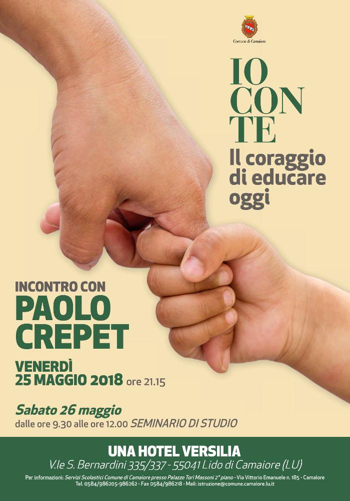 """Incontro con Paolo Crepet: """"Io con te, il coraggio di educare oggi"""""""