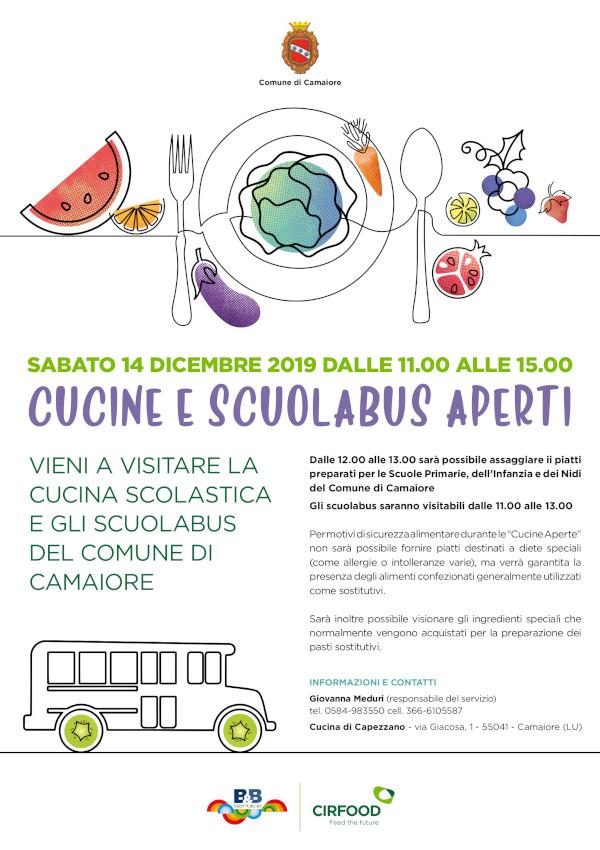 Sabato 14 dicembre cucine e autobus aperti