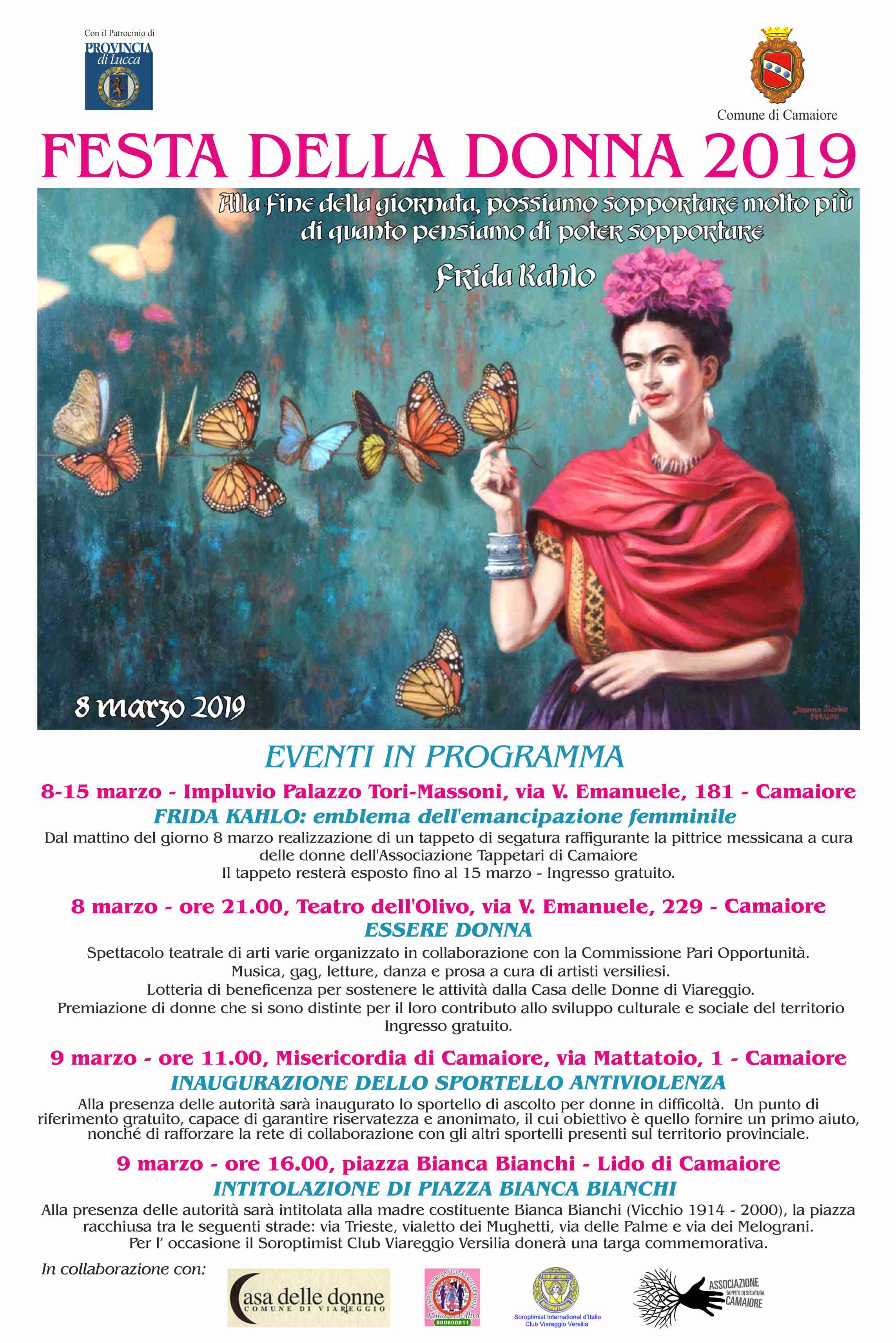 Festa della donna 2019 - il programma delle iniziative del Comune di Camaiore
