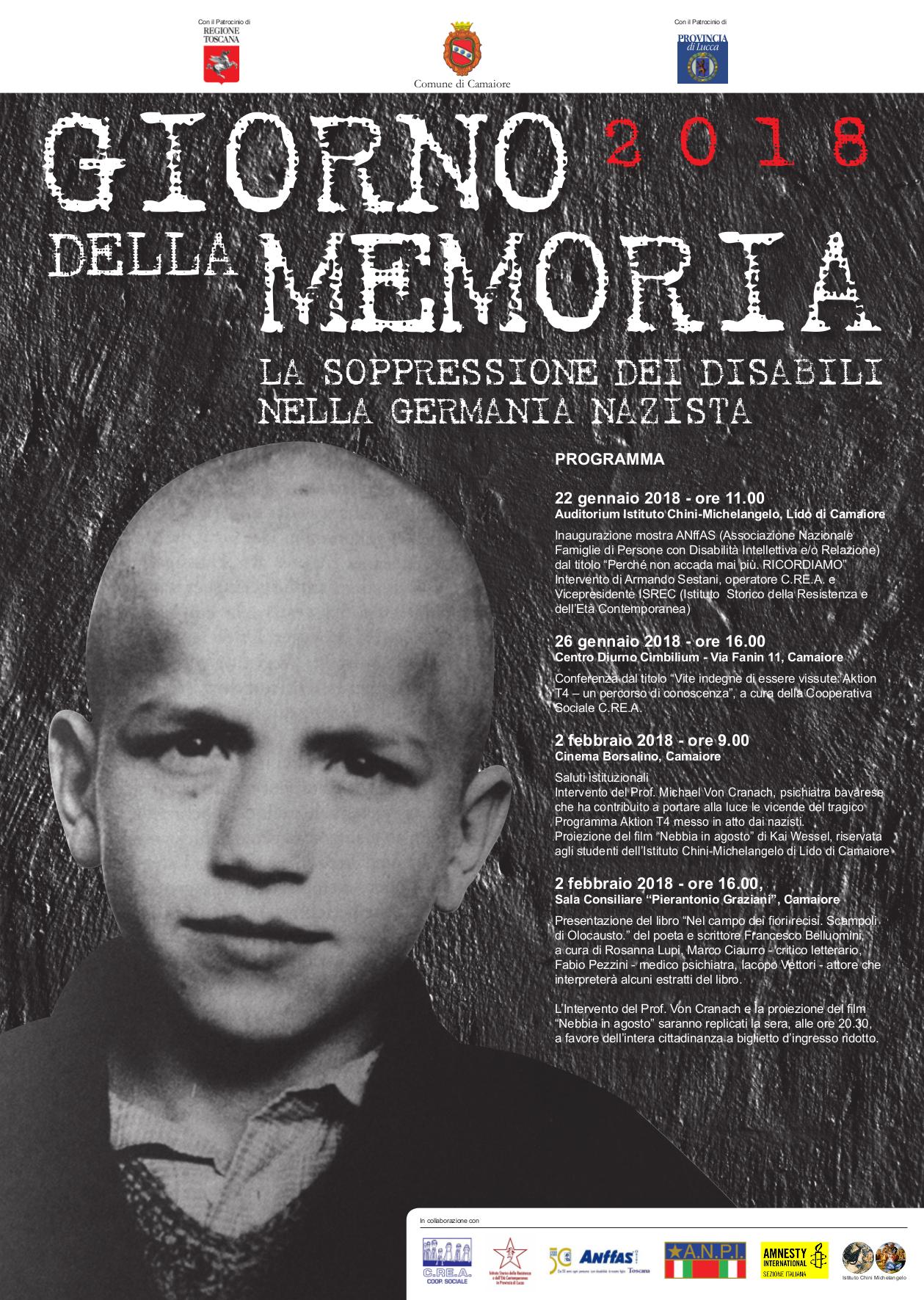 Giorno della Memoria 2018 - La soppressione dei disabili nella Germania nazista