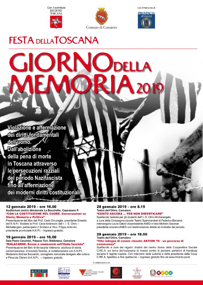 """Giorno della Memoria 2019 - il 28 gennaio lo spettacolo """"Vite indegne di essere vissute: AKTION T4 - un percorso di conoscenza"""" al Teatro dell'Olivo"""