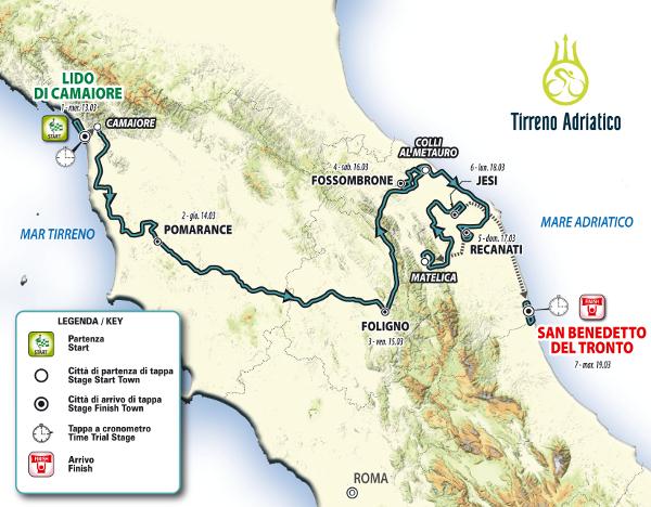 Tirreno-Adriatico 2019 tra novità e tradizione