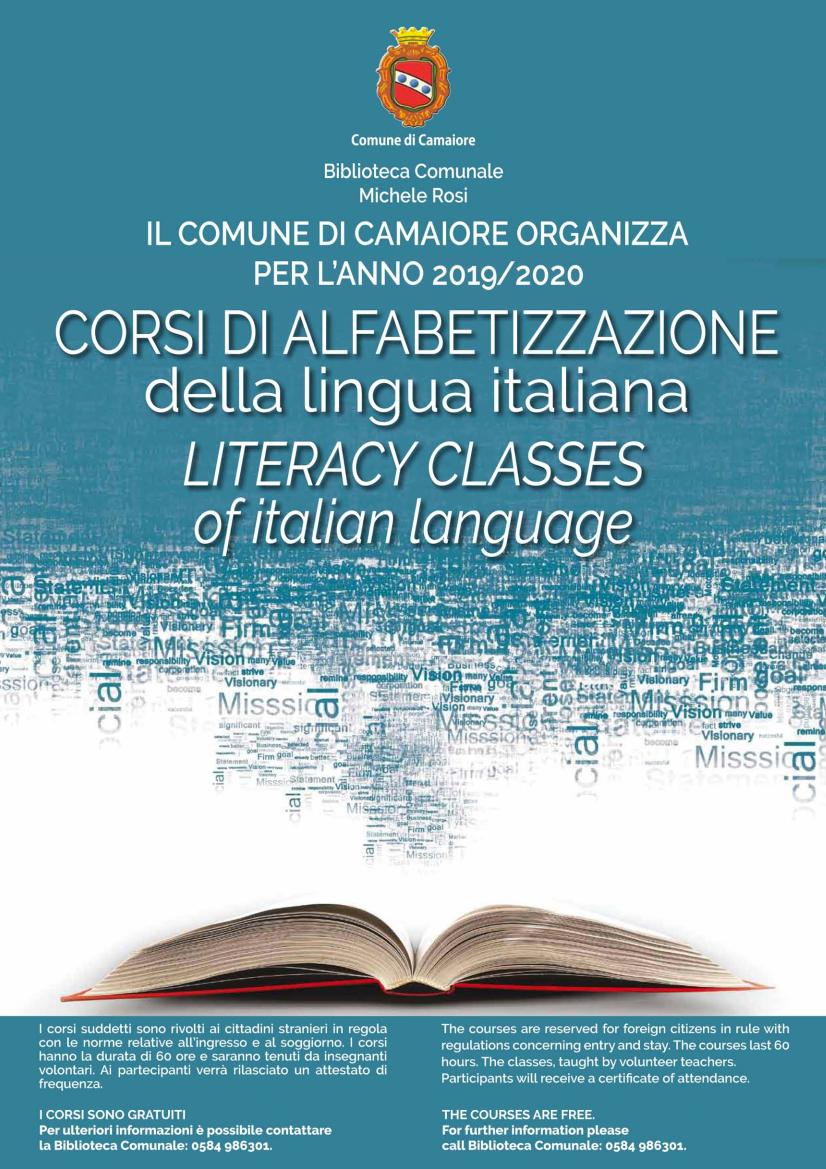 Literacy classes of italian language 2019-20