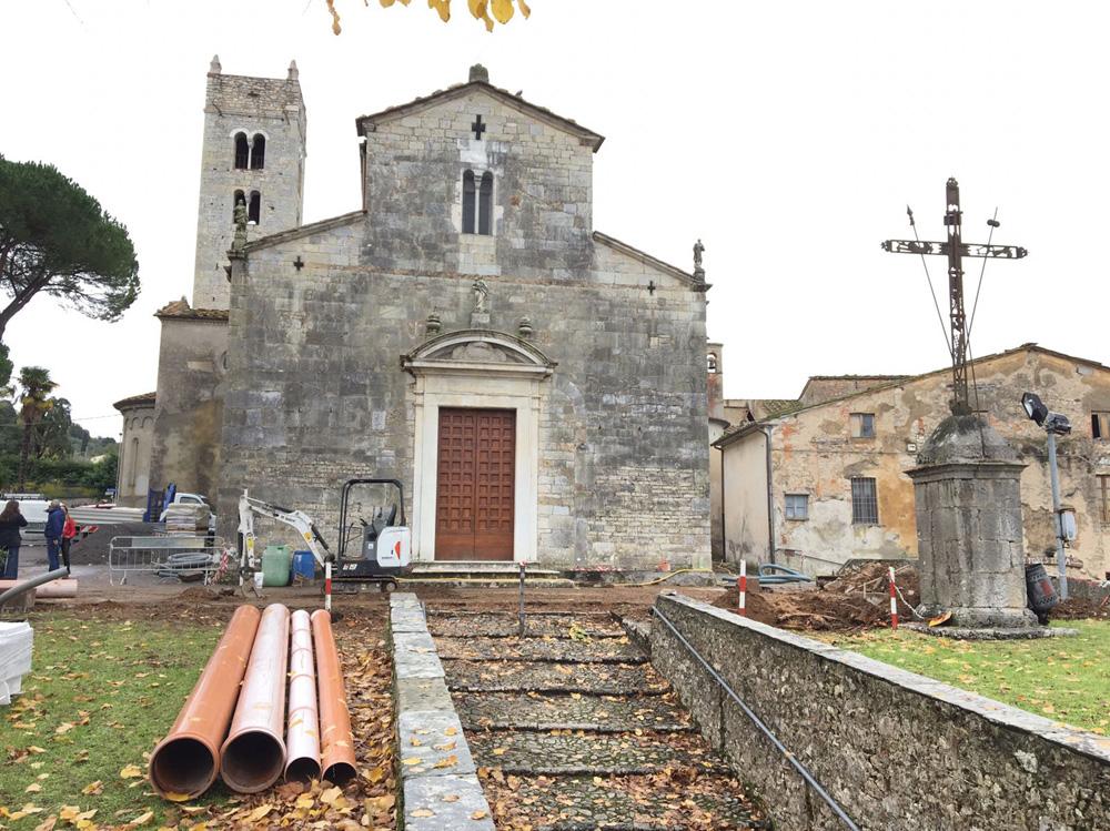 Lavori di riqualificazione  Piazzale Pieve di Santo Stefano
