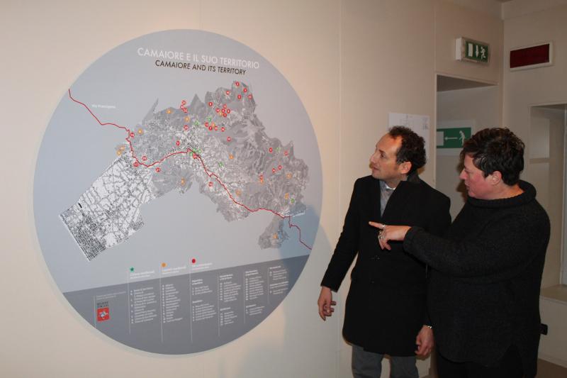 Installata mappa siti archeologici al Civico Museo Archeologico di Camaiore