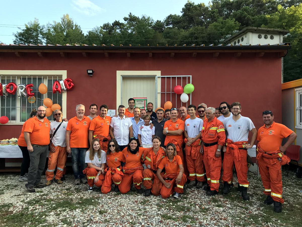 Inaugurata la nuova sede dell'antincendio boschivo di via Boschi