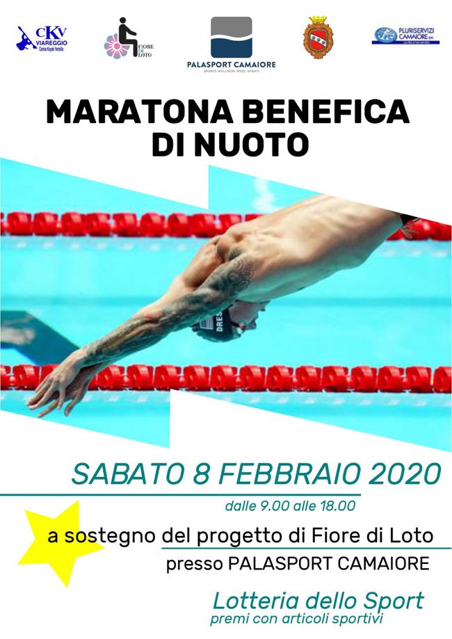 """""""Maratona benefica di nuoto"""" per il progetto """"Fiore di Loto – Aprirsi alla vita"""" alla piscina comunale di Camaiore"""