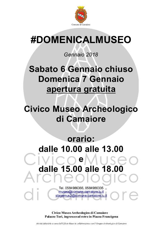 Civico Museo Archeologico aperto gratuitamente il 7 gennaio per #DOMENICALMUSEO