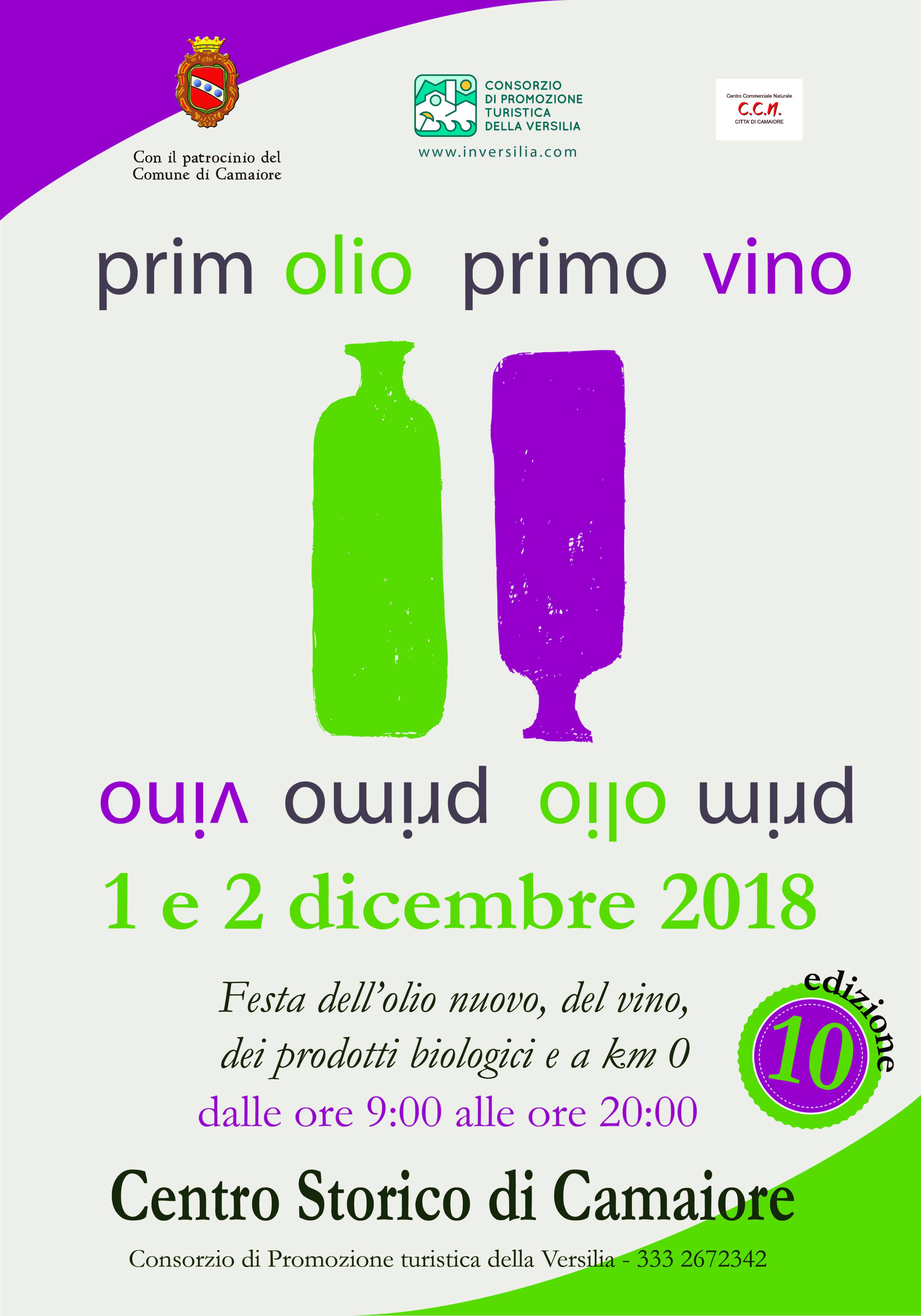 Sapori d'autunno in festa a Prim'olio Primovino - 1 e 2 dicembre a Camaiore