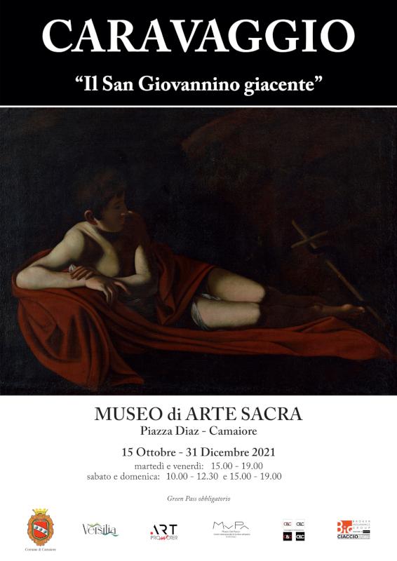 """Inaugurazione """"Il San Giovannino giacente"""" di Caravaggio venerdì 15 ottobre alle ore 18.00"""