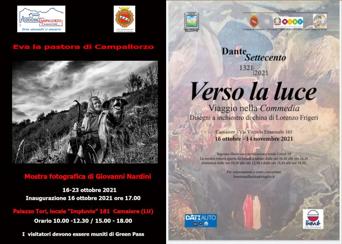 Non solo Pic: sabato 16 l'apertura di 2 mostre a Camaiore