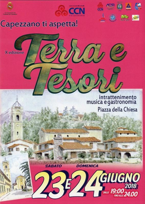 Terra e Tesori X edizione - 23 e 24 giugno 2018 a Capezzano