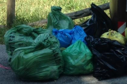 Definite le sanzioni minime per l'inosservanza del regolamento sulla gestione dei rifiuti: 100 euro per l'abbandono dei sacchetti