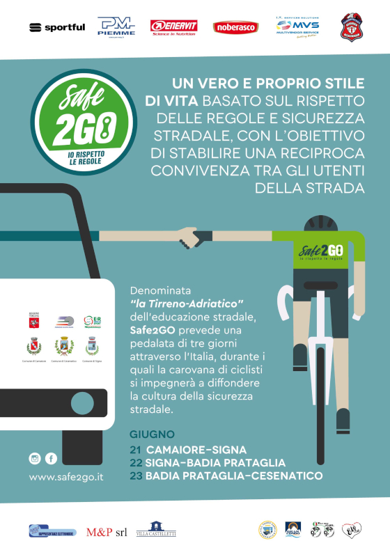 Safe2GO: io rispetto le regole - il 21 agosto partenza da Camaiore