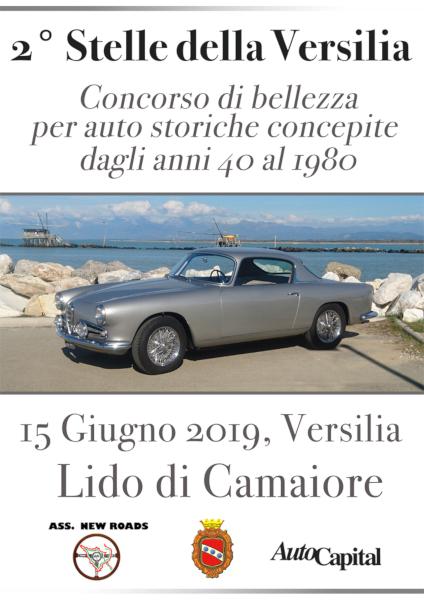 Stelle della Versilia - La seconda edizione del concorso di bellezza per auto storiche a Lido di Camaiore il 15 giugno